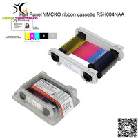 원래 Evolis는 Zenius R5H004NAA 반 패널 YMCKO 리본 카세트 400 인쇄 프라이머 id 카드 프린