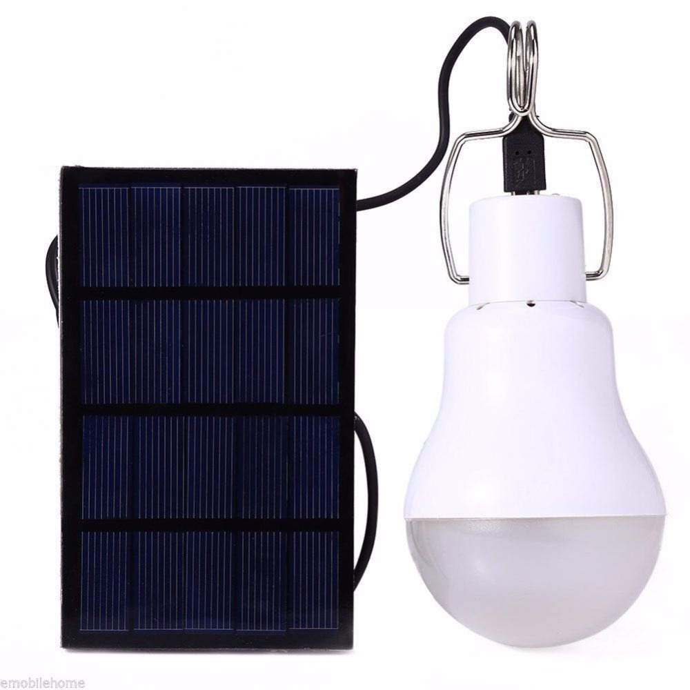 Hot Solar Lamp Powered Portable Led Bulb Lamp Solar Energy Lamp led Lighting Solar Panel Camp Night Travel Used 4hours
