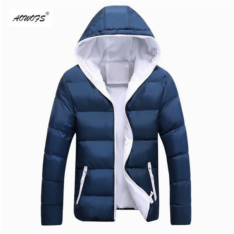 2018 new Brand winter Jacket for men hooded coats casual mens thick coat male slim casual cotton padded down outerwear