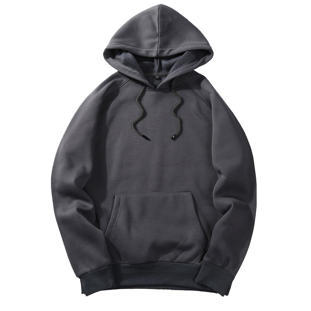 Men's Sportswear Long Sleeve Workout Tops Mens Sports Jackets Gym Sweater Shirts Sport Hoodies For Autumn Training Europe Size - Цвет: dark grey