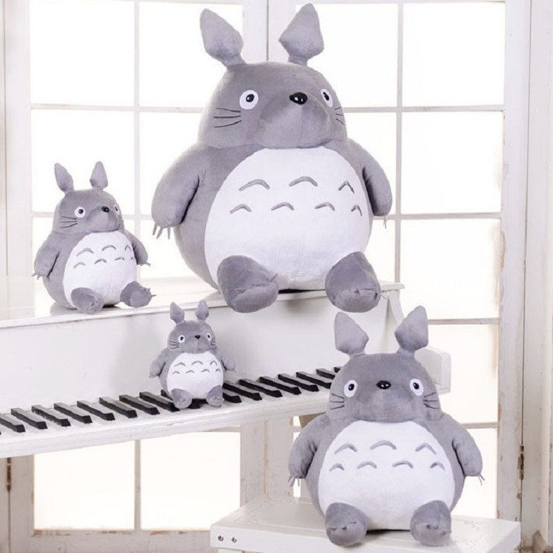 Image 2 - Totoro Plush Toys Soft Stuffed Animal Cartoon Pillow Cushion Cute Fat Cat Chinchillas Children Birthday Christmas Gift-in Stuffed & Plush Animals from Toys & Hobbies