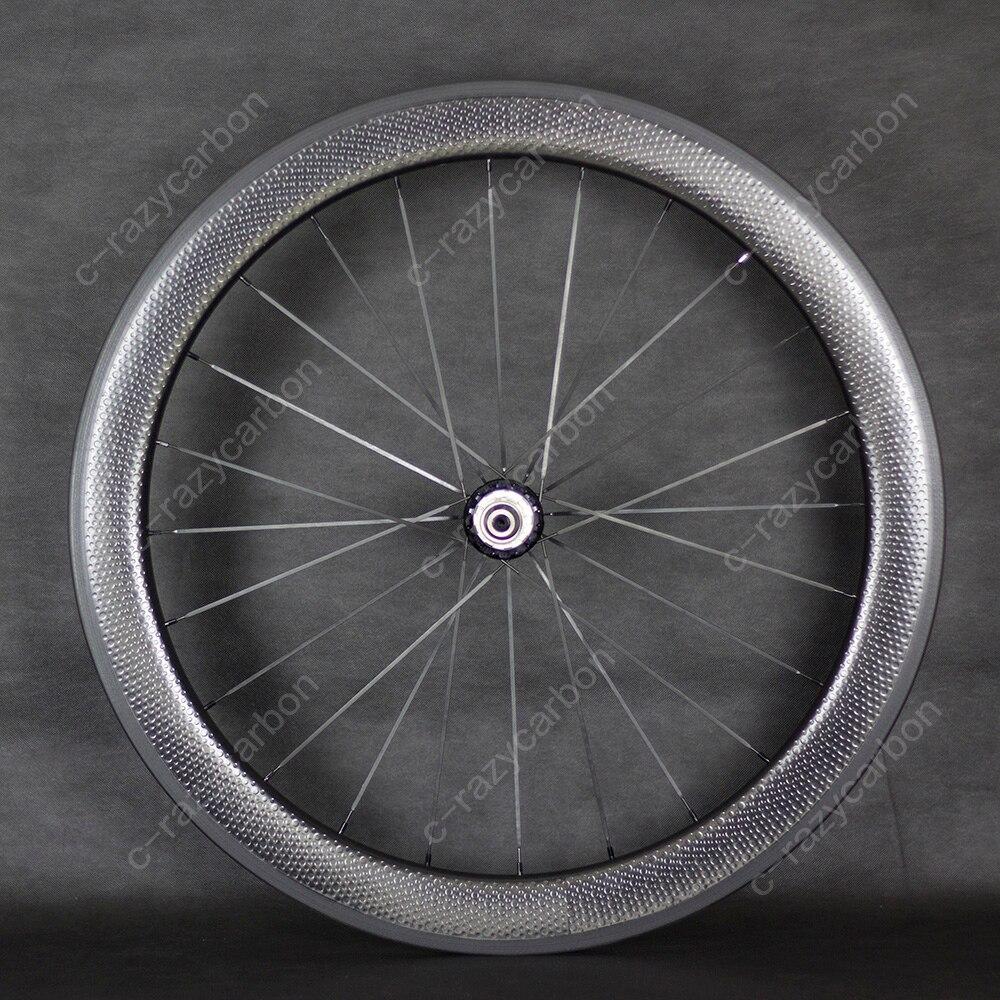 700c Ceramic Bearing Dimple Carbon Wheels 50mm Tubular Road Bike Carbon Wheel chord bearing capacity in long span tubular trusses