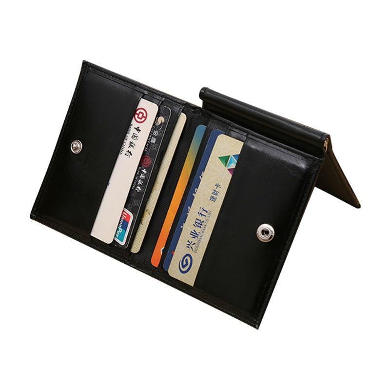 Чоловіки Magic Money Clip 3 Складіть тонкий гаманець Натуральна шкіра Велика ємність Зручний долар Кліп з карткою утримуйте гаманці кліпи Ba073