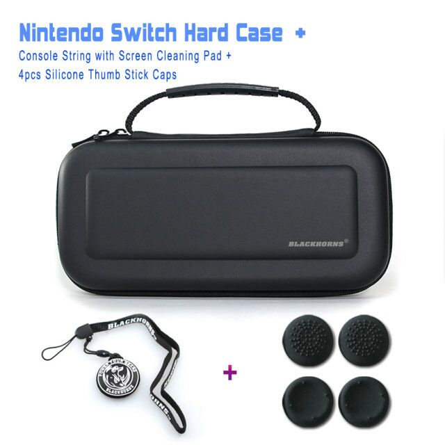 3in1 Kit Traveler Deluxe Travel Case Hard Protective Carrying Bag with Handle Strap for Nintendo Switch Console & Accessories
