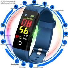 BANGWEI smart sport bracelet IP67 waterproof fitness blood pressure heart rate monitor pedometer information reminder smartwatch