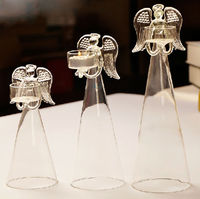 Romantic Decorative Happy Angel Glass Votive Candlesticks European Candlelight Dinner Candle Holders Wedding Party Decoration