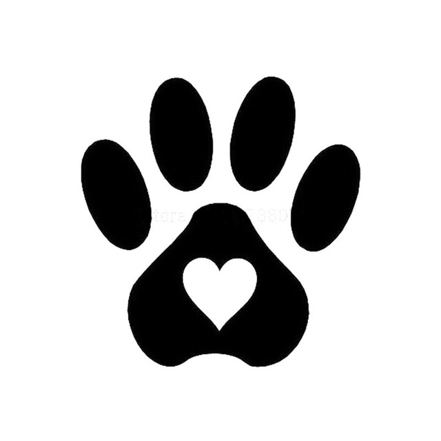 Dog Paw Car Stickers Decals