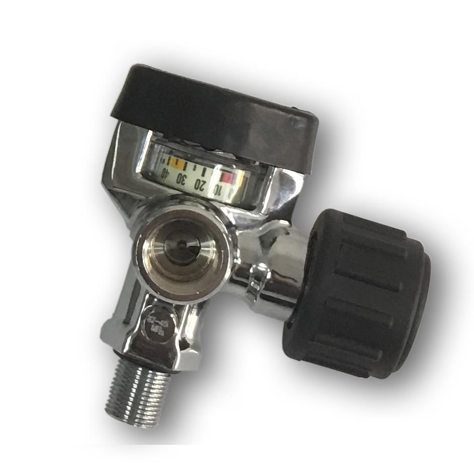 AC921 30mpa Air Cylinder Valve for SCBA carbon fiber cylinder/PCP Air Gun/Paintball Tank with Big Pressure Gauge for sale-VAC921 30mpa Air Cylinder Valve for SCBA carbon fiber cylinder/PCP Air Gun/Paintball Tank with Big Pressure Gauge for sale-V