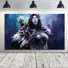 World Of Warcrafts Sylvanas Windrunner Cape Fantasy Girl Canvas Posters Prints Wall Art Painting Decorative Picture Home Decor