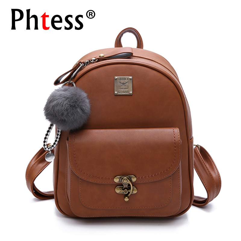 2018 Small Leather Backpacks For Teenage Girls School Bag Pack Mochilas Designer Brand Korean Backpack High Quality Bagpack New