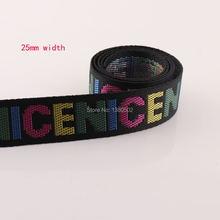 10 ярдов 25 мм 1 дюйм цветные буквы нейлоновая лента из хлопка/полиэстера