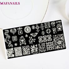Stainless 6*12cm 2018 New 1PC Lace Design Nail Stamping Plates Art Image JKL Stampping Manicure Template