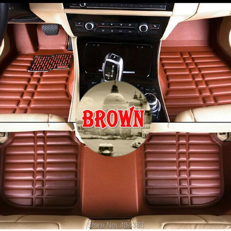 Custom car floor leather mats for Toyota Camry Corolla RAV4 Civic Highlander Land cruiser Reiz 3D car-styling carpet floor liner