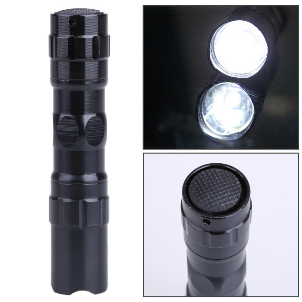 LED Waterproof Torch Mini Flashlight Light Portable Lamp Handy Black Diving Flashlights Outdoor Led Light Lantern Police Torch