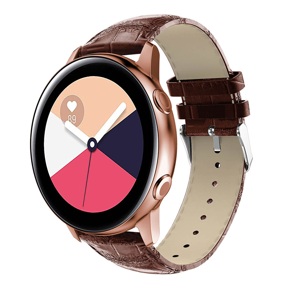 Replace Watchband Crocodile Pattern Band 20mm For Huami Amazift Bip Band For Samsung Galaxy watch Active bands Bracelet Strap in Watchbands from Watches