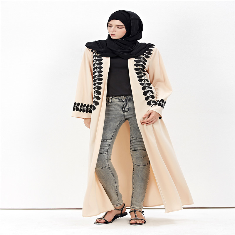 Veshja e modës për femra Cardigan në Dubai Style Abaya Jilbab - Rrobat kombëtare - Foto 3