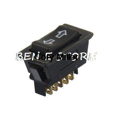 DC 12V 20A Black 5 Pins DPDT Momentary Automobile Car Power Window Switch