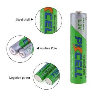 Image 4 - Pkcell 2 個aa 2200 3000mahのバッテリー + 2 個aaa 1.2v低自己放電ニッケル水素aaa充電式電池 + 1 個aa/aaa電池ボックス
