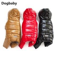 A14 зимний комбинезон для собаки одежда супер теплая куртка-пуховик для маленьких собак Водонепроницаемый Собака куртка свободного кроя удлиненный теплый хлопковый комбинезон для йоркширского терьера
