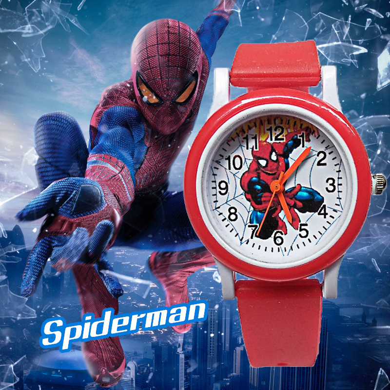 New Release Spiderman Children Watch Kids Watches Waterproof Quartz Wristwatches Fashion Child Watch For Boys Girls Gift Clock