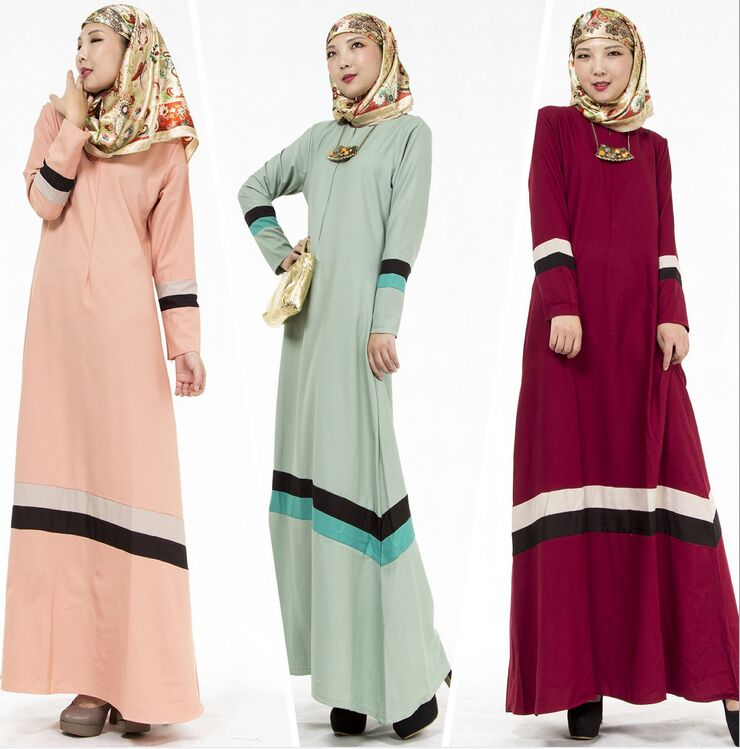 Bubble Tea Women Muslim Long Dress Islamic Abaya Kaftan Dubai Turkish Malaysia Fashion Robe 3 Color Cocktail Evening Dresses