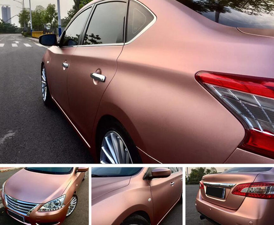 Rose-Gold-Lighting-Metal-Chrome-Vinyl-Wrap-Film-Satin-Metallic-Metal-Car-Body-Wrapping-Foil-Car