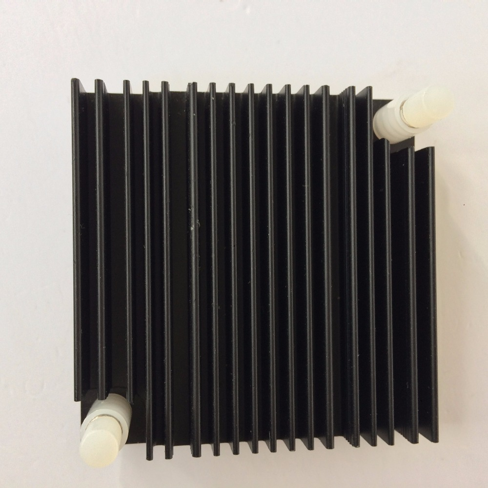Купить с кэшбэком 2 Piece 50x50x10mm Aluminium Heatsink Cooling Fan Cooler Radiator PC Northbridge Chipset Heat Sink