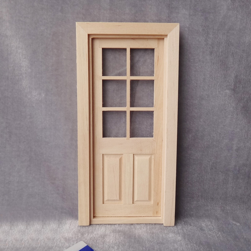 photograph relating to Dollhouse Windows Printable known as 1:12 Do it yourself Dollhouse Miniature Doorway Style Wooden Fake Participate in Home furnishings Miniaturas Extras