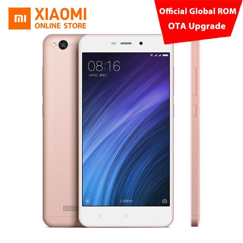"Original Xiaomi Redmi 4A Mobile Phone Snapdragon 425 Quad Core CPU 2GB RAM 16GB ROM 5.0"" 720P 13.0MP 3120mAh Battery MIUI8.1 OS"