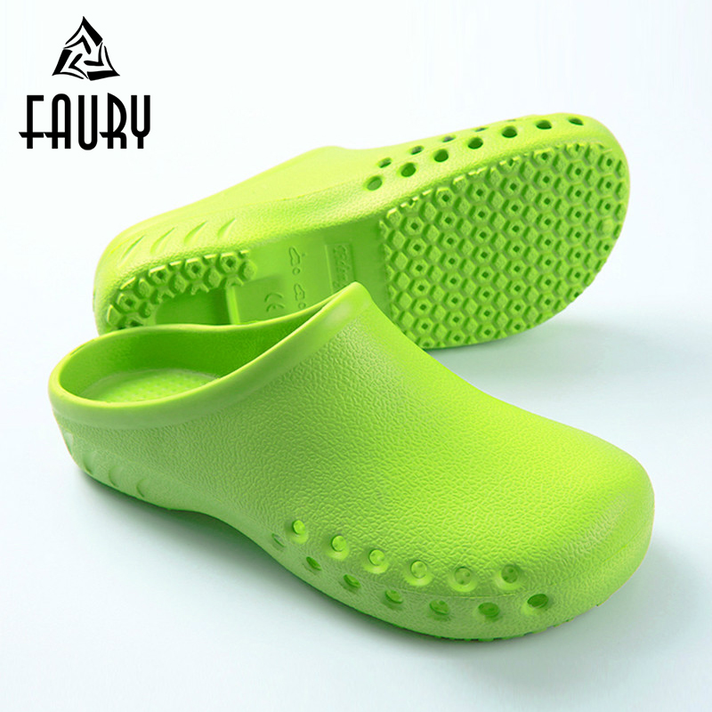 Hospital Medical Shoes for Man Woman Dental Clinic Surgical Shoes Anti-Slip Slippers Operating Room Lab Work Soft Flat Footwear best work safety footwear waterproof anti slip overshoes for sea food shop sushi shop men s medical nurising hospital shoes