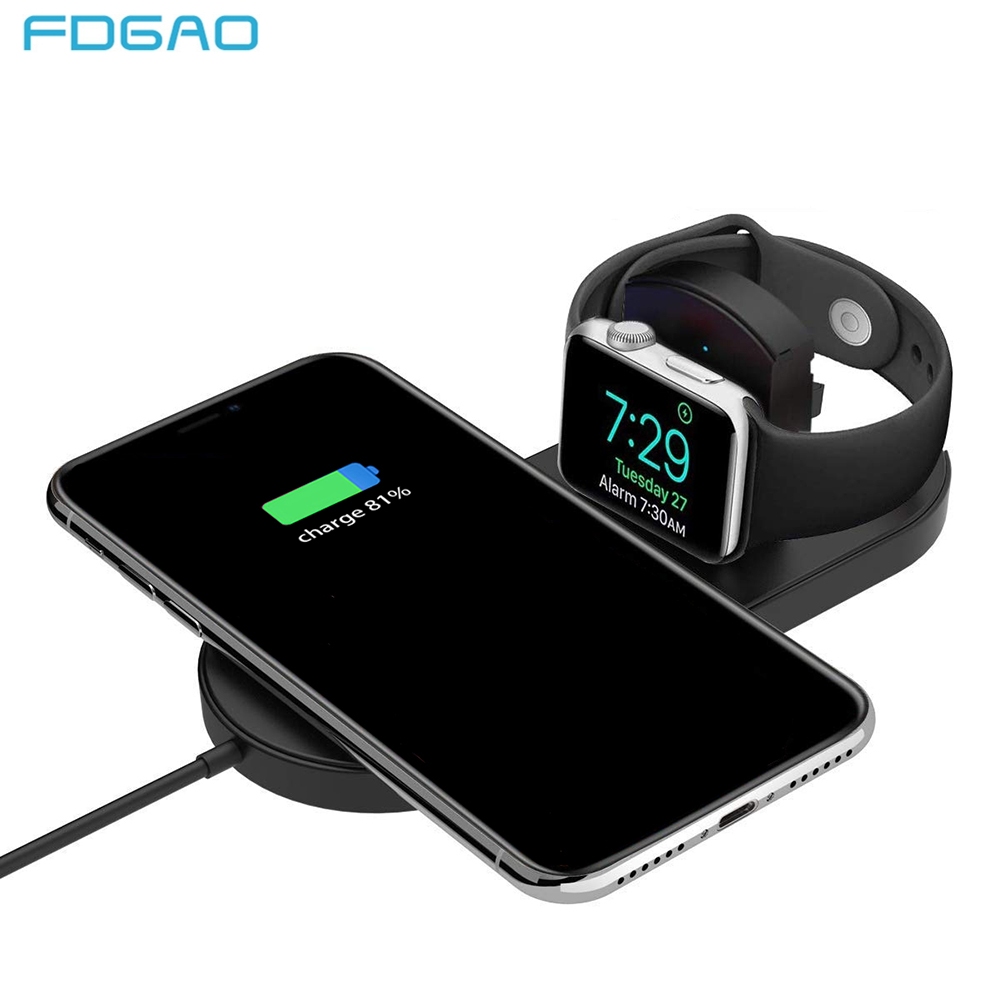 FDGAO Qi Wireless Charger Pad For Apple Watch 3 2 10W Fast