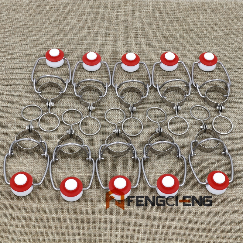 10 Pcs Ez Cap Flip Top Stopper Root Beer Bottles Replacement Swing Tops Homebrew Brewing Wine Stoppers Free Shipping