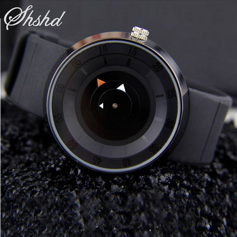 Silicone Lovers Watch Black Unisex Creative Watches Fashion Clock Women Casual Men Wristwatches Female Simple Relogio