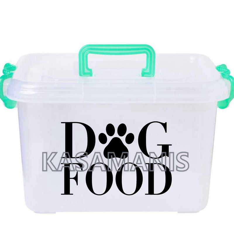 Dog Food Storage Decal Container