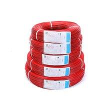 590 м/рулон 18/20/22/24/26 Калибр AWG электрические провода Луженая Медь ПВХ изоляцией расширение для светодиодов ленточный кабель красные, черные провода