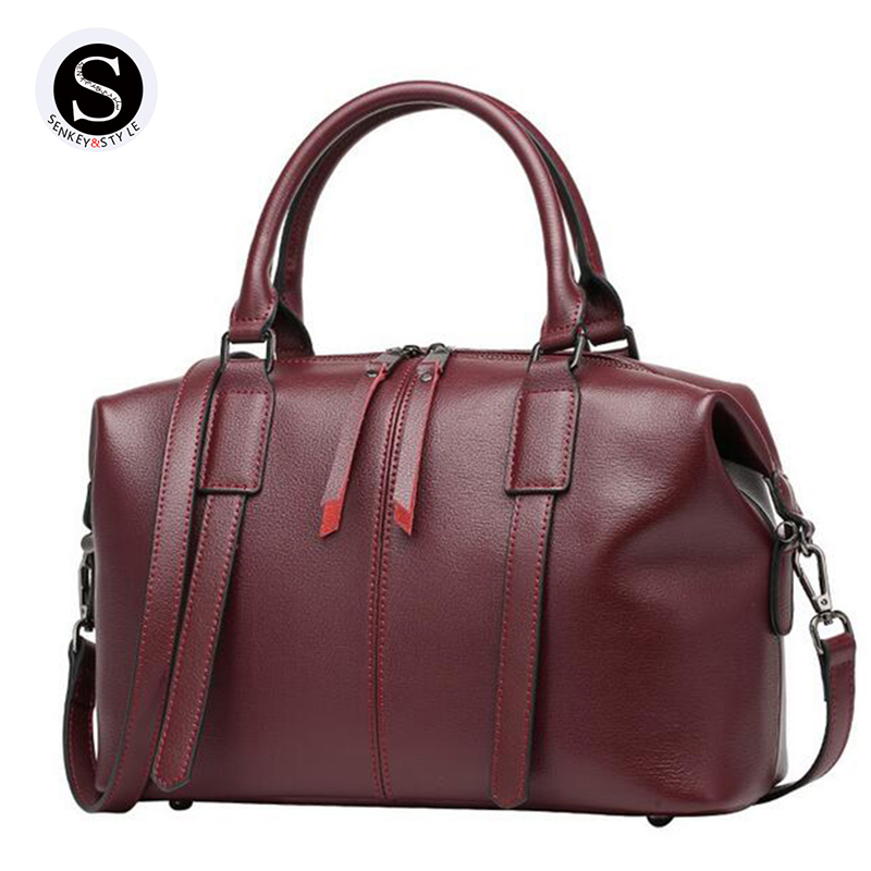 Senkey Style Genuine Leather Bag For Women Messenger Bags Handbags Women Famous Brands Designer High Quality 2017 Fashion chispaulo women genuine leather handbags cowhide patent famous brands designer handbags high quality tote bag bolsa tassel c165