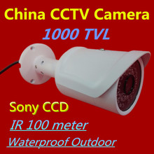 HD 1000TVL Sony CCD Security Analog Camera IR 100 Meters Outdoor Surveillance CCTV Camera Waterproof Outdoor High Quality