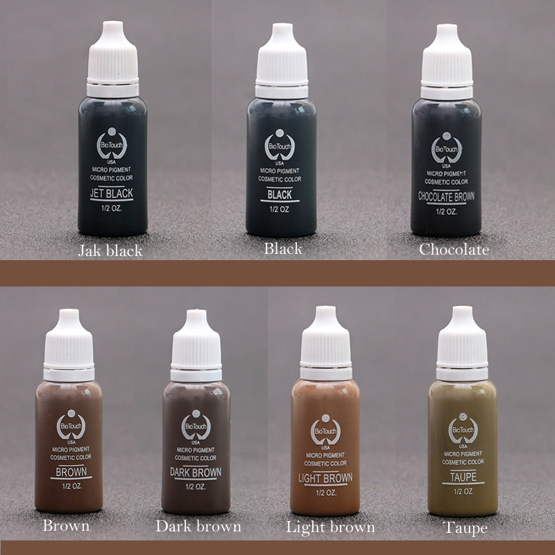 Free Shipping 8pcs Biotouch Tattoo Ink Permanent Makeup Eyebrow Eyeliner Pigment Used For Manual Pen or Permanent Makeup Machine сетевой фильтр эра sf 5es 2m w 2м белый [c0039530]