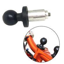 Base de alumínio de borracha da motocicleta montagem da bicicleta garfo preto base haste com bola cabeça para gopro adaptador montagem bola