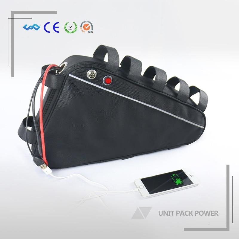 Électrique BikeUS L'UE Aucun Impôt Triangle Batterie 48 V 15.6Ah Li ion batterie LG Cellulaire 1000 W Bafang eBike Batterie avec USB 30A BMS + Chargeur