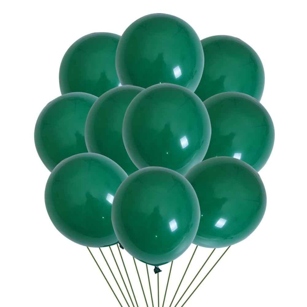 สีเขียวใบปาล์มบอลลูนสีเขียวบอลลูน Tropical ฮาวาย PARTY Baloons ซาฟารีปาร์ตี้ Balon Jungle ธีมสัตว์วันเกิดบอลลูน