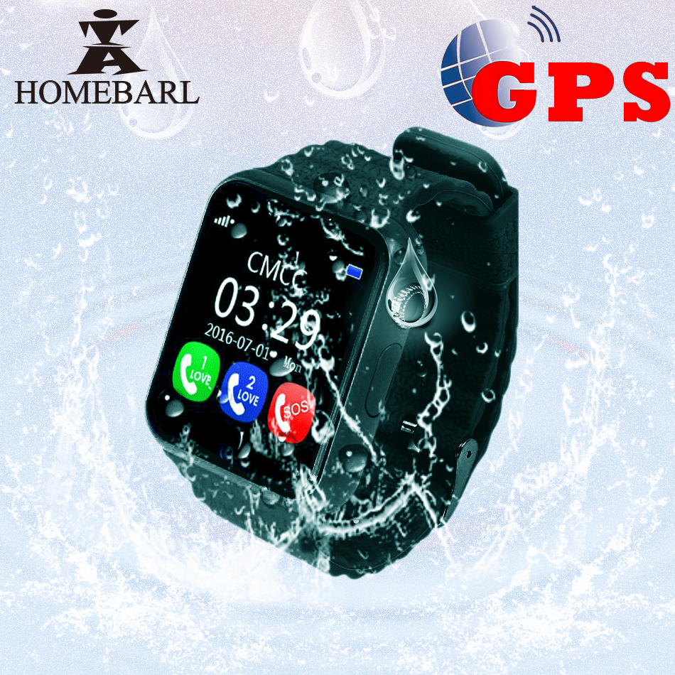 Kinder GPS Tracker Kinder Sicherheit Anti Verloren Wasserdichte V7K Smart Uhr Kamera Kid SOS Notfall Android IOS PK Q90 Q50 q60 Q528