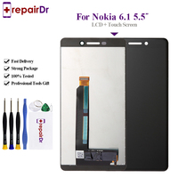 Original For Nokia 6.1 Lcd TA 1043 TA 1054 TA 1068 LCD Display Touch Screen Digitizer Assembly 5.5'' For Nokia 6 2018 6 II Lcd