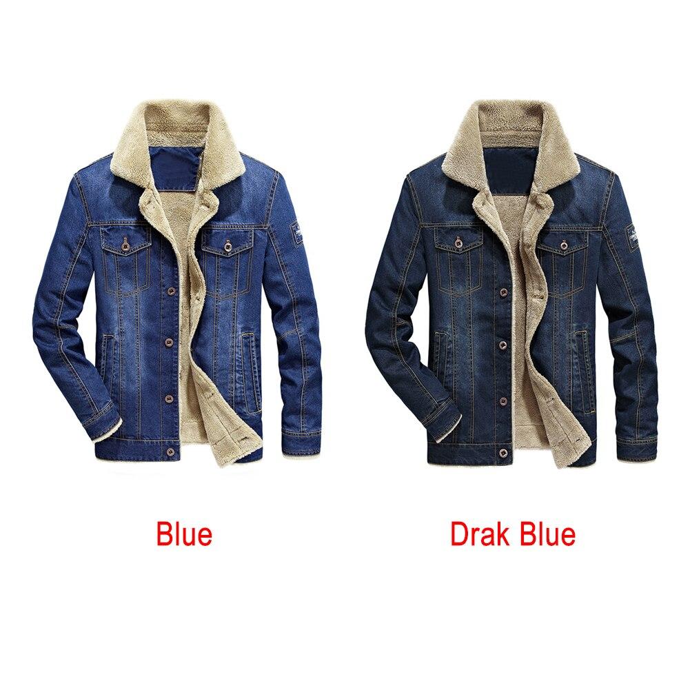 Blue Moda Felpa Collar Cálido La Hombres Abrigo Otoño Jeans abajo De Invierno Giro Chaqueta Primavera dark Abrigos Blue Gruesa Nuevos fT0q0w8