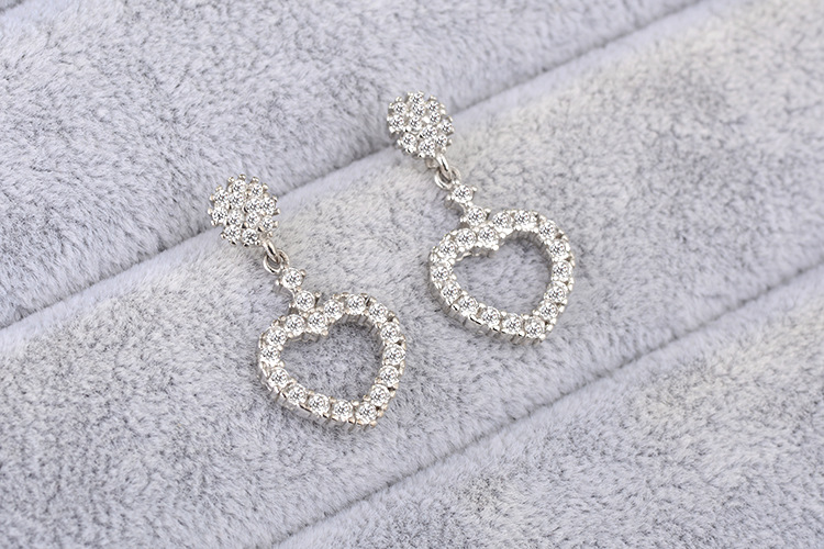 2018 Hot Sale New Classic Aretes European Fashion Jewelry Retro Mosaic Zircon Earrings Crystal from Swarovski Woman Jewelry