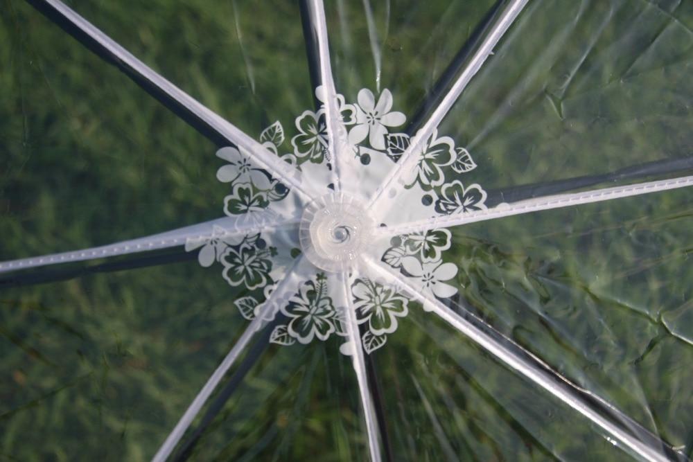 Transparenter Kunststoff PVC Spitze drei Taschenschirm sonnig - Haushaltswaren - Foto 2