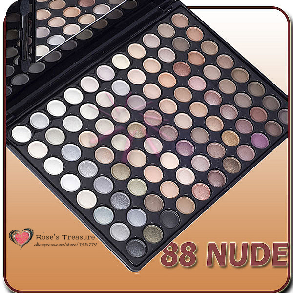 2017 NEW 88 warm color eye shadow power / eyeshadow neutral nude palette Makeup