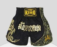 High quality!Muay thai shorts kick boxing shorts fight trunks mma combat sport pants Black Red silver for adults kids
