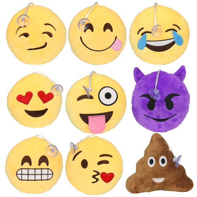 15cm keyring cute emoji smiley emoticon key holder purse bag for car christmas gift key chain - Christmas Smiley Faces