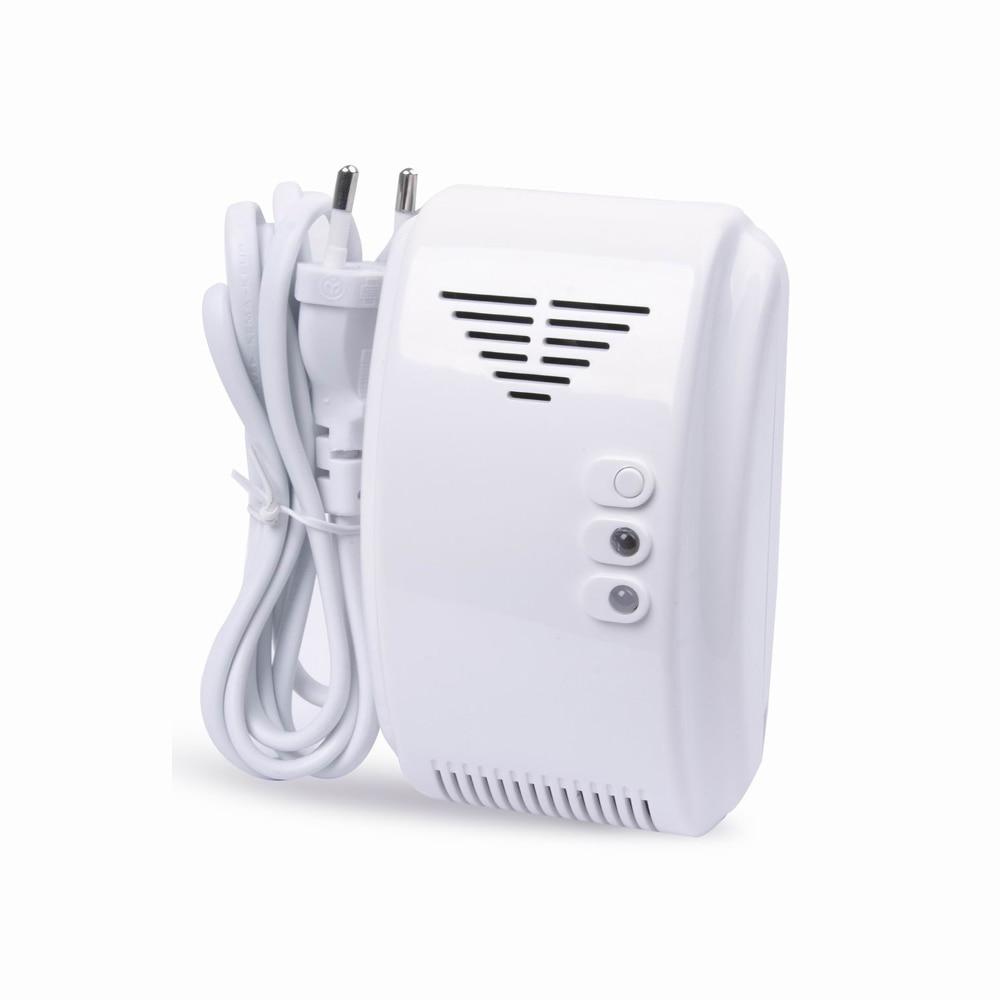 (10 шт.) Европа адаптер 433 мГц Беспроводной горючих детектор газа пожарной безопасности управления защиты угольной природного газа сигнализа